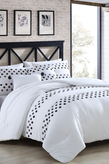 5-Piece Washed-Tufted Comforter Set Mia - King Modern Threads