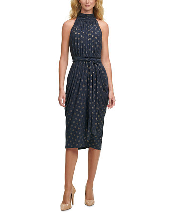 Glitter-Dot Mock-Neck Dress Tommy Hilfiger