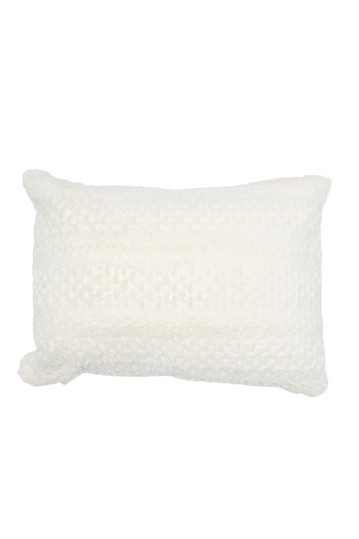 Scalloped Plush Pillow - White Nordstrom Rack