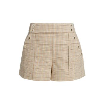 Pine Sailor Button Plaid Shorts VERONICA BEARD