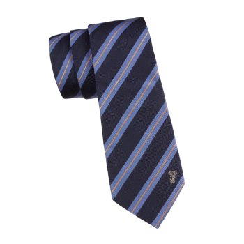 Dual Striped Silk Tie Versace Collection