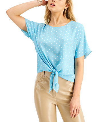 Printed Tie-Front Top, Created for Macy's Bar III