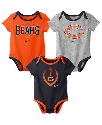 Baby Chicago Bears Icon 3 Pack Bodysuit Set Nike