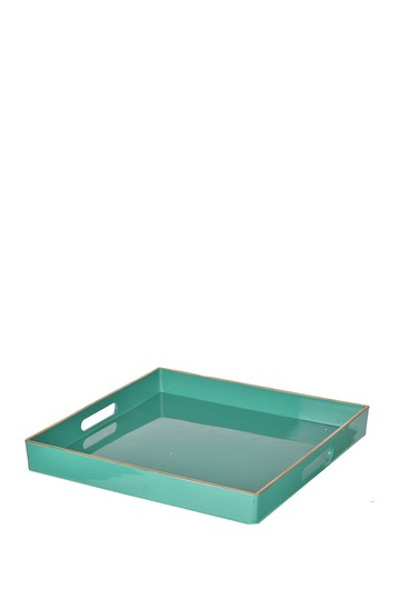 Turquoise Mimosa Square Tray R16 HOME
