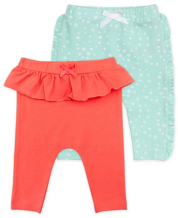 Baby Girls Ruffle Leggings with Bubble Print, 2 Pack Mac & Moon