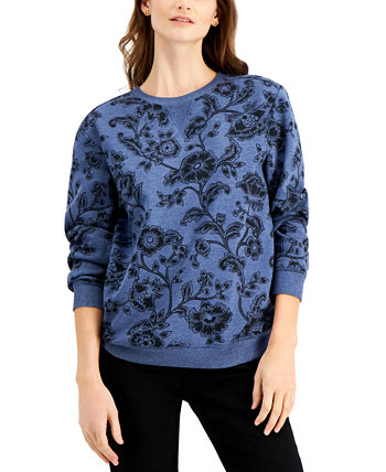 Printed Sweatshirt, Created for Macy's Karen Scott