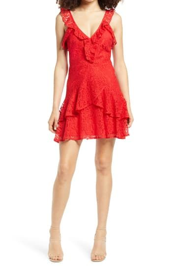 Ruffle Tiered Lace Minidress ALL IN FAVOR