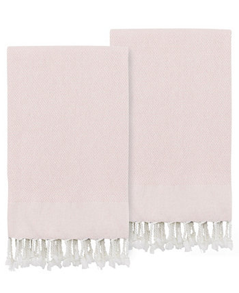Textiles Turkish Cotton Fun in Paradise Pestemal Hand or Guest Towels, Set of 2 Linum Home