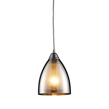 Reflections 1-Light Pendant in Polished Chrome ELK Lighting