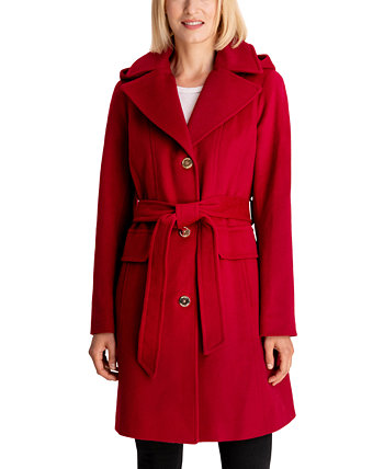 Petite Belted Hooded Coat, Created for Macy's Michael Kors