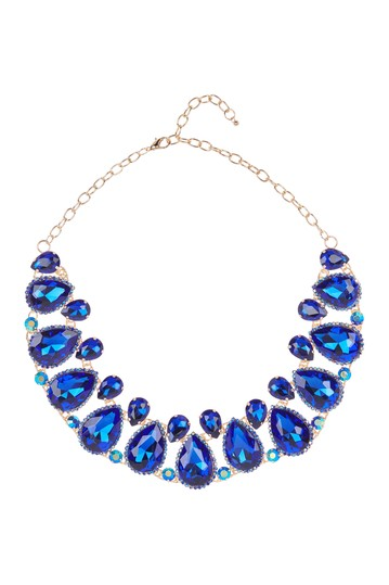 Large Faceted Crystal Statement Necklace Natasha Accessories