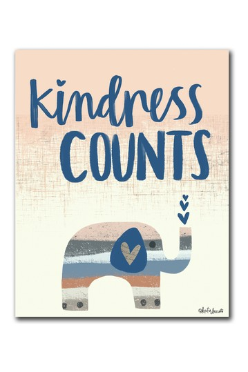 Kindness Counts Gallery Wrapped Canvas Wall Art Courtside Market