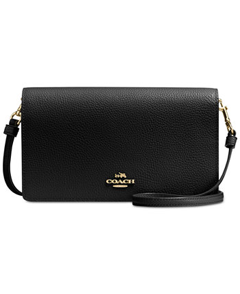 Foldover Crossbody Clutch in Polished Pebble Leather COACH