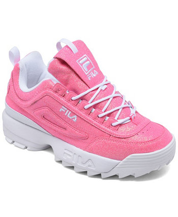 Big Girls Disruptor 2 Glimmer Casual Sneakers from Finish Line Fila