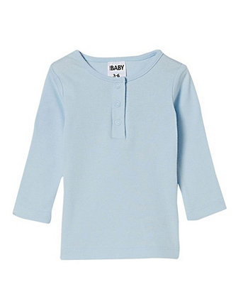Baby Girls Aiden Long Sleeve Placket Top COTTON ON