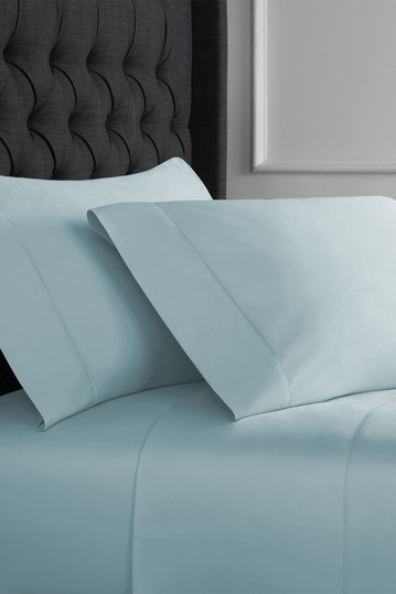 King 1000 Thread Count Hemstitch Sheet Set - Blue, Blush, Charcoal, Grey, Ivory, White Christopher Knight Collection