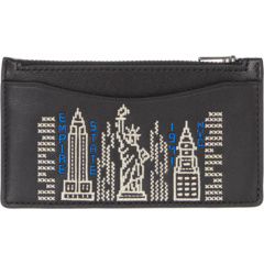 Zip Card Case with Stardust City Skyline COACH