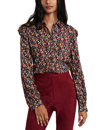 Ruffled Floral-Print Shirt, Created for Macy's Riley & Rae