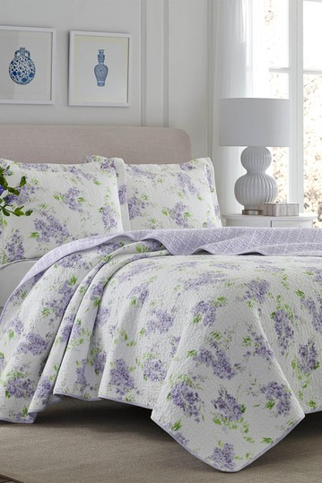 Keighley Pastel Purple King Quilt Set Laura Ashley