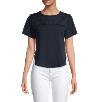 Scalloped Cotton T-Shirt See by Chloe
