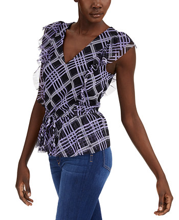 INC Petite Ruffled Tie-Front Top, созданный для Macy's INC International Concepts