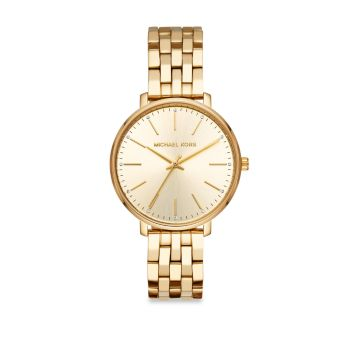 Pyper Three-Hand Gold-Tone Stainless Steel Watch Michael Kors