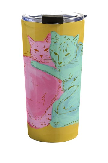 Sewzinski Cat Cuddles Travel Mug Deny Designs