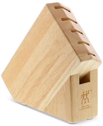 Zwilling Pro Rubberwood Studio Block with 6 Slots J.A. Henckels
