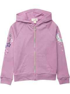 Baby French Terry Star and Moon Hoodie Jacket  (Toddler/Little Kids/Big Kids) PEEK