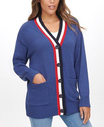 Flag-Back Cardigan Sweater Tommy Jeans