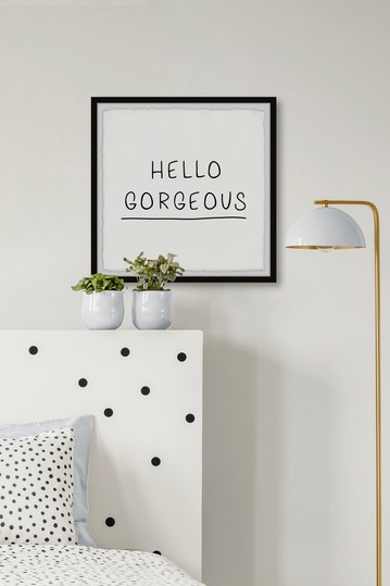 Hello Gorgeous V Wall Art Marmont Hill Inc.
