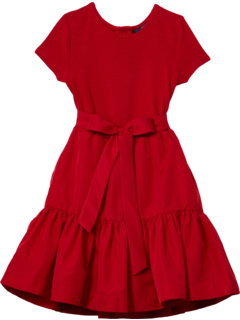 Knit to Woven Fit-and-Flare Dress (Little Kids) Ralph Lauren