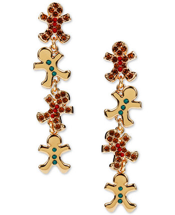 INC Gold-Tone Crystal & Bead Gingerbread Linear Drop Earrings, Created for Macy's INC International Concepts