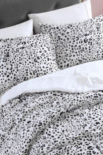 Water Leopard Natural Twin Duvet Cover Set Betsey Johnson