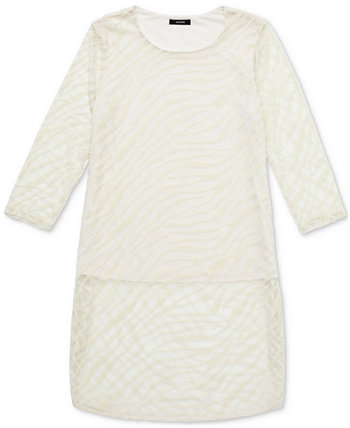 Zebra-Print Burnout Layered Tunic, Created for Macy's Alfani