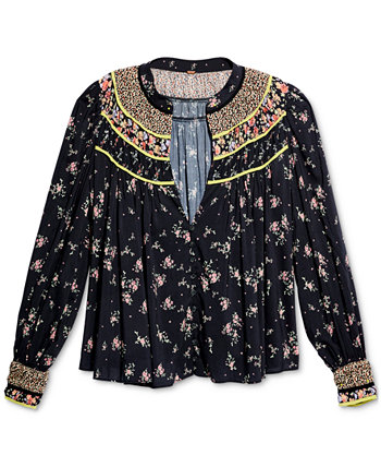 Paloma Printed Blouse Free People