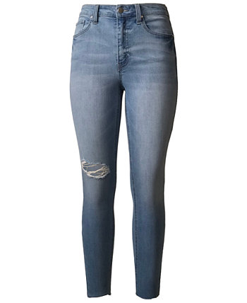 Juniors' High Rise Real Lift Ripped Skinny Jeans Tinseltown