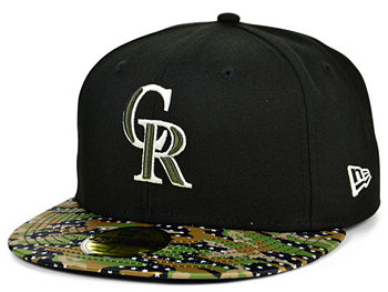 Colorado Rockies Star Viz Camo 59FIFTY Cap New Era