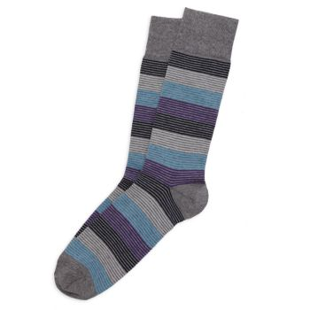 COLLECTION Mille Multi-Stripe Crew Socks<br> Saks Fifth Avenue