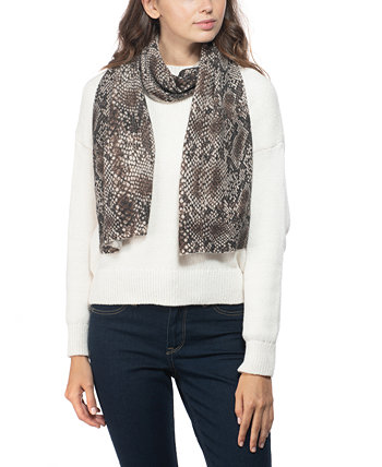 Cashmere Snake-Embossed Muffler Scarf, Created for Macy's Charter Club