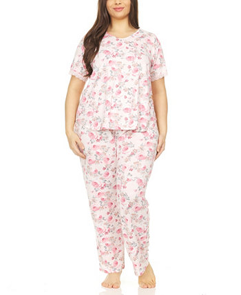 Chase Printed Plus Size Pajama Set, 2 Piece Flora Nikrooz Collection