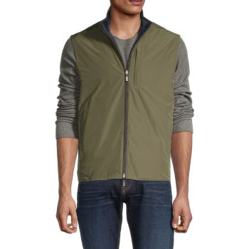 Reversible Zip-Up Vest Canali