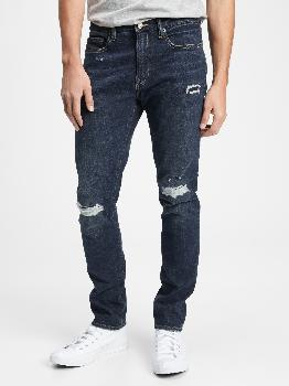 Mid Rise Distressed Skinny Jeans with GapFlex Gap Factory