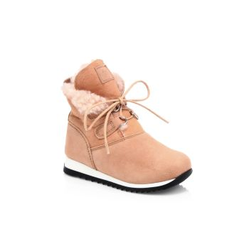 Baby's & Little Boy's Sunrise Suede Shearling-Lined Boots Giuseppe Zanotti