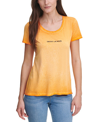 Garment Washed Logo T-Shirt DKNY Jeans