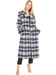 Plaid Belted Wool Maxi Coat Kate Spade New York