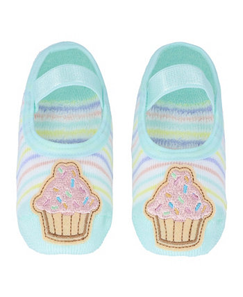 Baby Boys and Girls Anti-Slip Cotton Socks with Cupcake Applique NWALKS