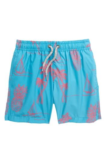 BOYS SWIM SHORTS W/EMBROIDED L Vintage Summer