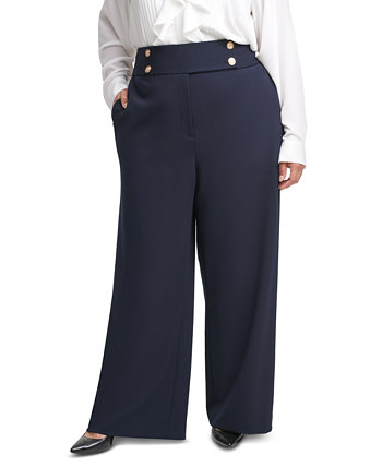 Plus Size Crepe Sailor Pants Calvin Klein