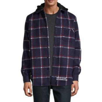 Plaid Hooded Shirt Jacket Cult Of Individuality